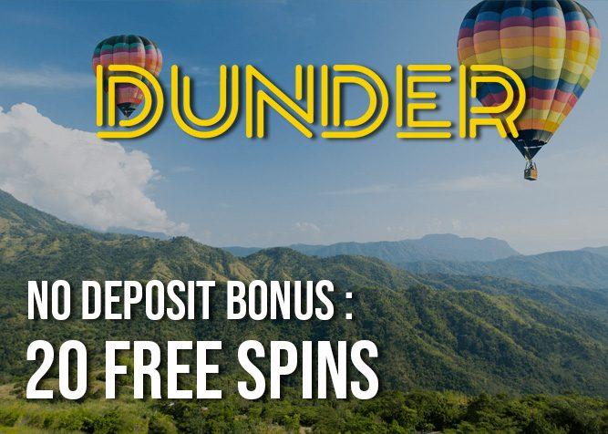 Dunder casino 20 spins no deposit bonus